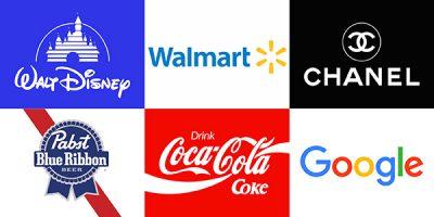 A variety of brand logos