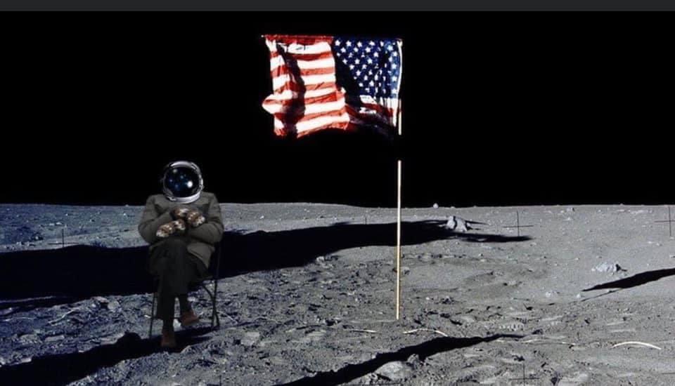 Bernie on the Moon