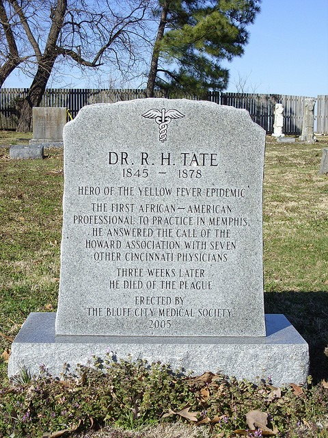 Dr. R.H. Tate's Grave at Elmwood
