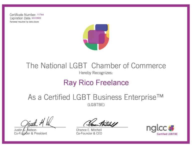 NGLCC® LGBTBE® Certificate