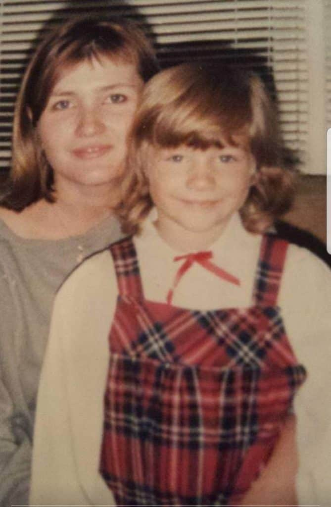 Young Leila and her mama